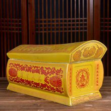可订做人像骨灰坛 印去世亲人画像陶瓷骨灰盒 直筒经文寿盒 大量批发