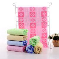 厂家直销纯棉字母毛巾吸水高端定制纯棉14支提花面巾团购回礼毛巾