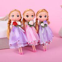 可爱卡通婚纱款迷糊娃娃18cm创意礼品搪胶挂件儿童玩具玩偶批发