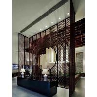 不锈钢屏风隔断镂空雕花酒店花格屏风现代客厅玄关折叠隔墙定做