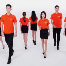 满洲里厂家批量定制工作服劳保服T恤衫