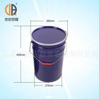 厂家直销27L带箍马口铁桶,水性铁桶 价格优惠 质量保证