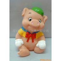 质优环保 塑料 卡通小猪公仔 搪胶PVC 动漫儿童玩具 婴儿礼品系列