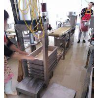 钟祥市供应商用千张豆腐机 豆腐皮机 不锈钢仿手工生产豆腐的机器多少钱 做豆皮的机器