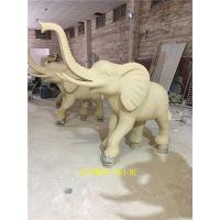 东莞玻璃钢动物雕塑制造、公园门口玻璃钢大象雕塑厂家