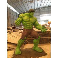 玻璃钢绿巨人电影院摆件商场雕塑漫威复仇者联盟大型英雄人物定做