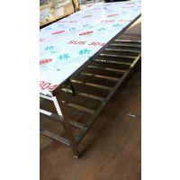 厂家加工1200*2400双层厨房用不锈钢台面 操作桌