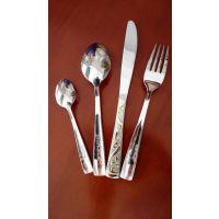304不锈钢餐具 欧美西餐餐具套装 外贸原单 四件套刀叉勺套装礼品