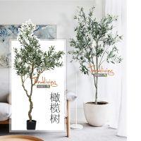 仿真橄榄树北欧风格家居客厅室内落地假绿植盆栽景装饰品摆设包邮