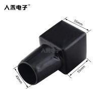 人禾电子PVC生产电瓶夹保护套 批发黑色绝缘保护套