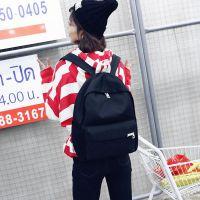 批发双肩包女韩版学院风旅行包简约帆布休闲包背包男中学生书包女