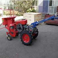 高产量柴油电启动玉米收获机自动去穗扒皮机型号全耐用