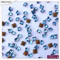 厂家热销 2*2浅蓝尖底方钻玻璃水晶钻 项链耳环戒指吊坠饰品配件