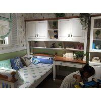 森美源厂家定制公寓板式床衣柜床头柜书桌和布艺沙发