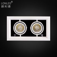lonled LED豆胆灯COB射灯单头双头三头格栅灯酒店商场工程工厂直销保三年
