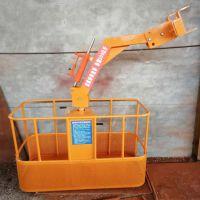 供应吊车配件 吊车吊篮360度可旋转高空作业吊篮
