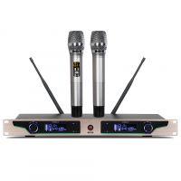 家庭KTV会议一拖二无线麦克风防啸叫可调频金属管超远距离话筒