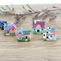 创意zakka 迷你小房子别墅 微景观配件树脂小摆件背景道具