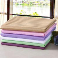jsh纯白色美容院绿色无纺布用品洞美容床单纯棉条纹素色会所驼色
