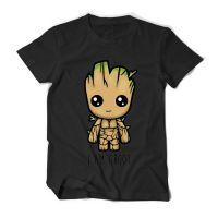 电影新款银河护卫队2T恤 树精格鲁特I am Groot短袖T恤衫男休闲