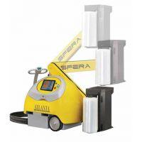 小黄人缠绕机 自走式机器人 物流专业裹包 省膜350%