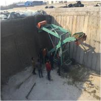 深窑坑切草取料机 液压升降扒草机 7米高度取料车