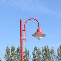 厂家直销3.5米庭院灯小区庭院灯景观灯灯头户外防水灯倒挂喇叭灯