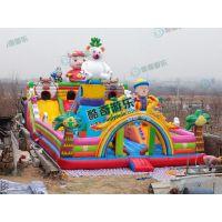 公园游乐设备郑州充气城堡生产厂家实拍图片
