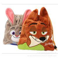 周边电影  疯狂动物城毛绒束口袋 狐狸兔子卡通动物收纳零钱袋
