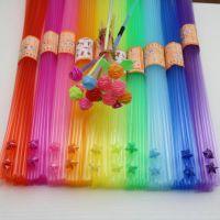 星星管吸管荧光手工做的透明叠彩色儿童手工制作材料吸管塑料折的
