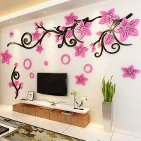 婚房布置卧室亚克力墙贴3d立体电视背景墙贴纸客厅墙壁装饰墙贴画