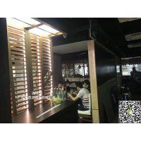 连锁店餐厅凹凸槽透光铝窗花_双层铝屏风_树枝铝花格【新品报价】
