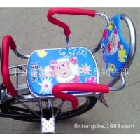 自行车电动车折叠车加大加宽安全儿童后座椅后置座椅上学座椅