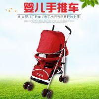 货源供应塑料婴儿手推车可坐可躺折叠四轮推车伞车儿童婴儿车批发