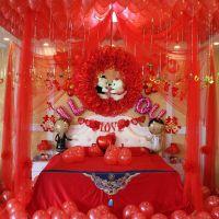 卧室婚房布置创意拉花新房婚庆婚礼新婚浪漫韩式装饰房间结婚用品