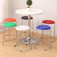 成人加厚塑料凳子餐桌凳椅子方凳高凳吃饭板凳登子餐厅塑胶櫈子