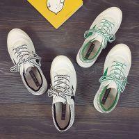 远步帆布鞋女学生韩版原宿ulzzang百搭2017春季新款平底系带板鞋