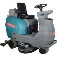 大型驾驶式电动洗地车全自动水洗式拖地机浮尘脏水泥土砂粒清洁车