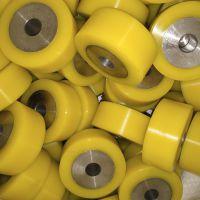 耐磨牛筋包胶轮 优力胶包胶轮定制 聚氨酯包胶轮厂家