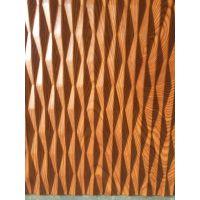 浙江酒店、宾馆、商场背景墙装饰立体波浪板-定制实木波浪板-生产木纹波浪板厂家
