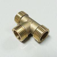 黄铜接头4分三通 水管三通 分水接头 全外丝铜三通 水管接头