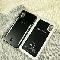 iPhoneX防摔创意闪光三代自拍直播补光神器三星s8plus美颜手机壳