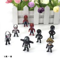 新品电影复仇者联盟手办玩具偶摆件蚁人钢铁侠蜘蛛侠公仔8款一套