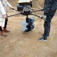 慧聪机械 支架用的挖坑机 40钻头打坑机价格 大棚苗木打坑机 一人操作轻便的汽油打坑机