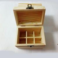 木制品加工厂定制精油木盒松木收纳盒小木质礼盒6瓶装实木精油盒