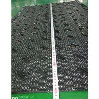 两侧带收水器悬挂填料 长1200宽800 新型横流塔黑色填料 品牌华庆