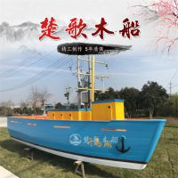 杭州千岛湖室内船型吧台 户外景观装饰船 海盗木船厂家直销