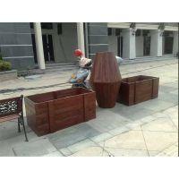 供应广州品兆 酒店 文化广场实木防腐木组合花箱
