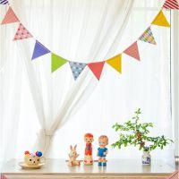 小马百货批发 波点爱心三角纸彩旗 生日节庆聚会婚庆纸质装饰品