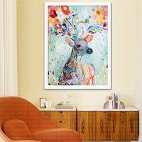 JDWN5d钻石画卡通动漫小鹿满钻客厅新款卧室点钻十字绣麋鹿小幅贴